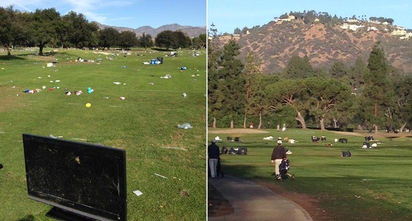 Pasadena Golf Course Trashed After UCLA-USC Game