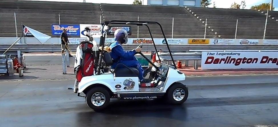 High Speed Golf: World's Fastest Cart Goes 118 MPH