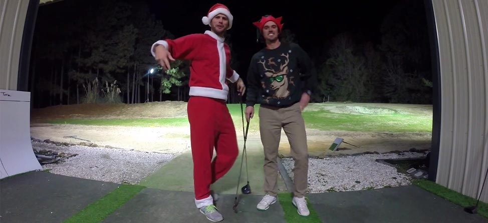 Christmas Trick Shots With The Bryan Bros.