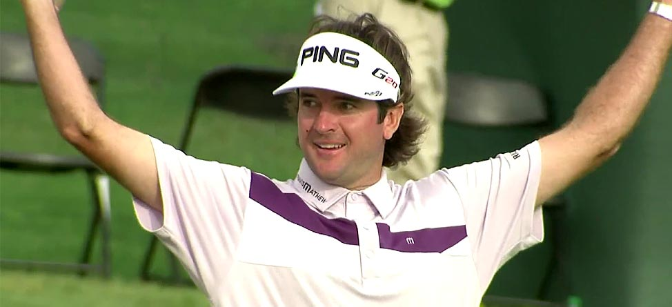 Video: Bubba Watson Makes Shot Out Of Water Look Way Too Easy
