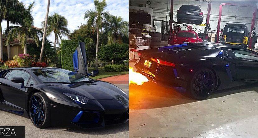 MLB Star's Lamborghini Spits Fire — Literally