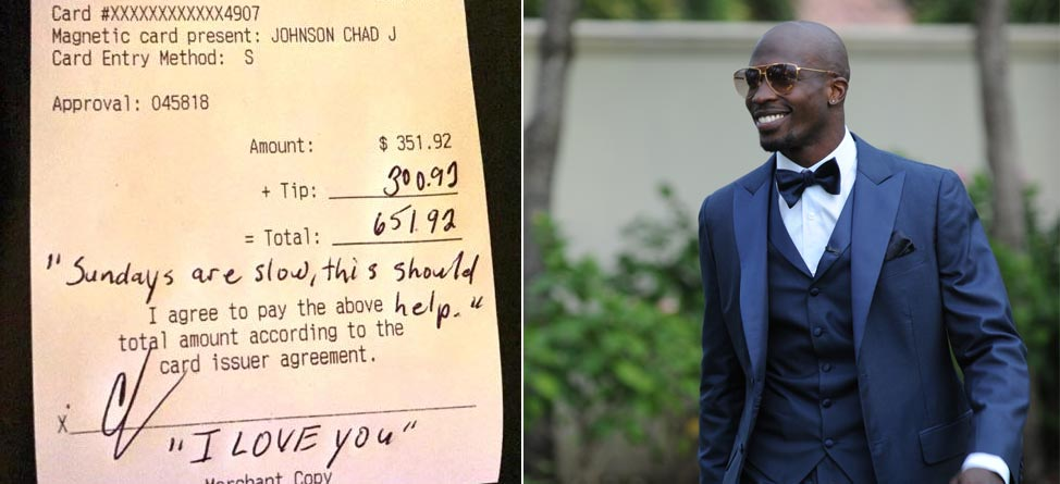 Check Please: Chad Johnson & The Most Memorable Tips From Athletes