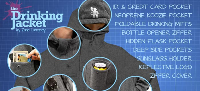The Drinking Jacket Will Hold Your Booze, Keep You Warm & More