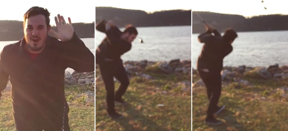 Video: Angry Guy Sends iPhone Into Hudson River With 9-Iron