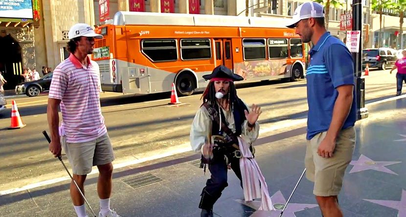 Trick Shots With Drunk Captain Jack Sparrow…Yes, Seriously