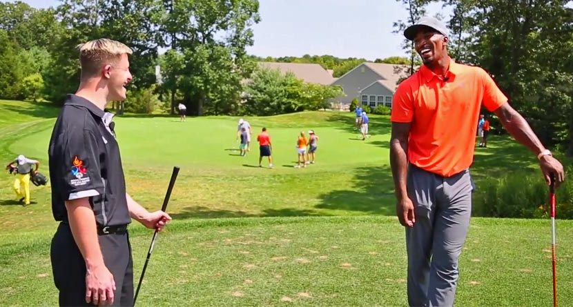 Must-See Video: J.R. Smith Plays Golf With Special Olympics Champion