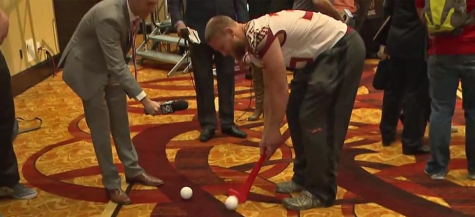 Nick O'Leary Makes Grandfather Jack Nicklaus Proud In FSU Putting Contest
