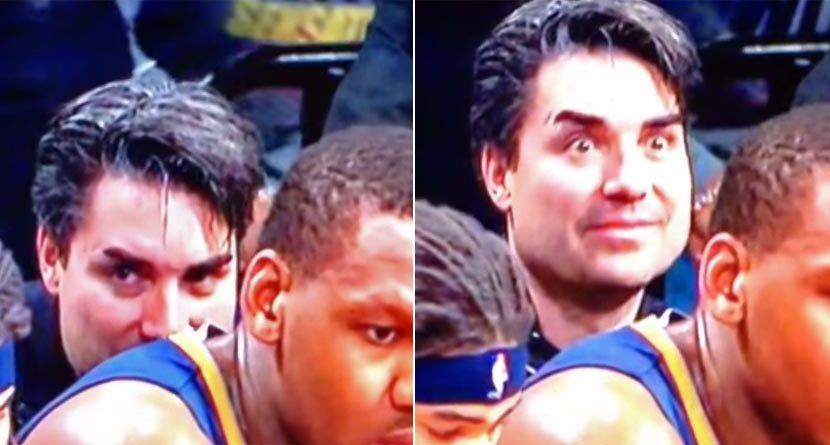 Creepy NBA Fan Sniffs Sweaty Jersey In Bizarre Video