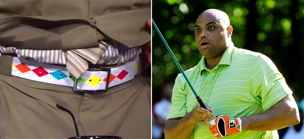 What's Worse: Charles Barkley's Belt Or His Golf Swing?