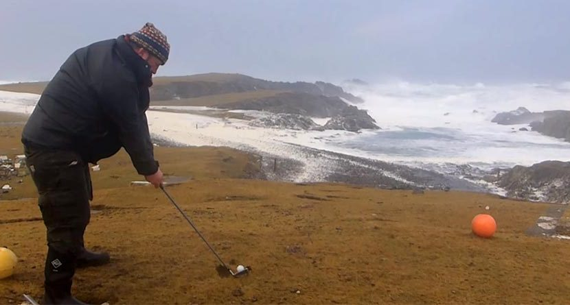 Extreme Golf: A Hurricane & 72 MPH Winds Won't Stop This Guy