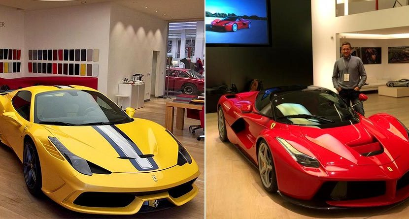 Ian Poulter Gets Fitted At Ferrari HQ, Makes You Extremely Jealous