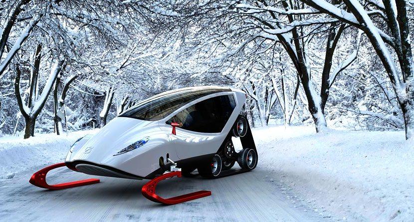Ferrari Meets Snowmobile To Make The Ultimate Winter Machine