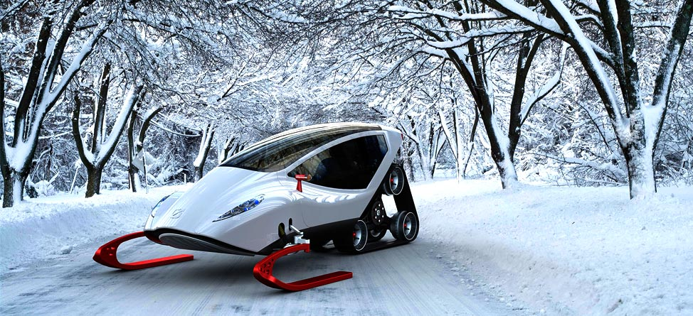 Ferrari Meets Snowmobile To Make The Ultimate Winter Machine