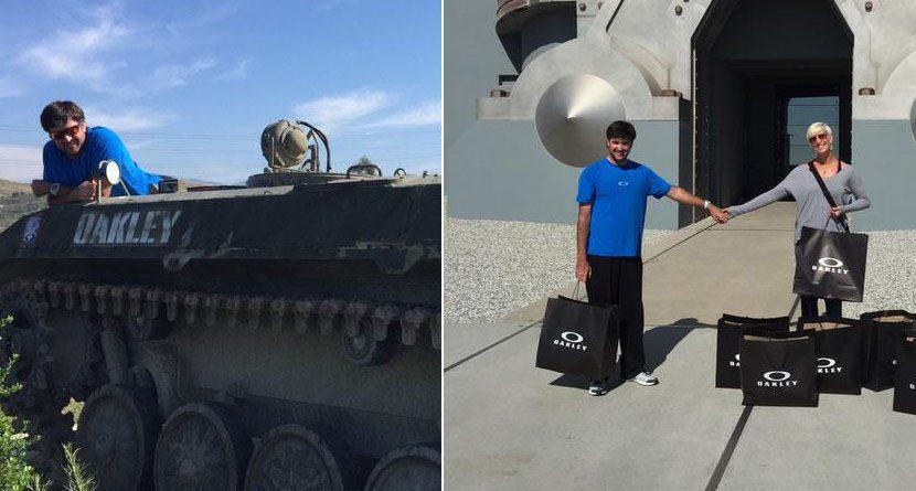 Bubba Rides A Tank As Watsons Tour Oakley Headquarters