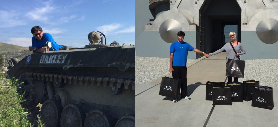 Bubba Rides A Tank As Watsons Tour Oakley Headquarters