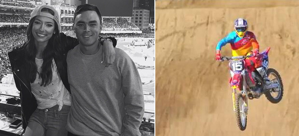 Rickie Fowler Takes In Supercross With Girlfriend After Farmers
