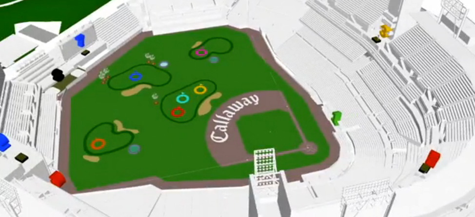 Padres and Callaway Transform Petco Park into 9-Hole Golf Course