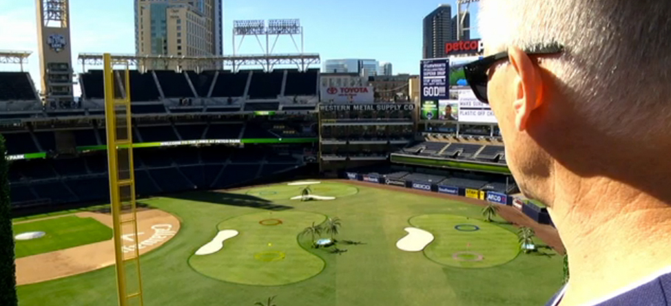 Kenny Mayne Takes on the Links at Petco Park