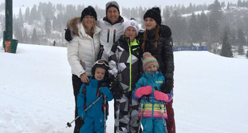 Ian Poulter Wipes Out During Family Ski Vacation In Utah