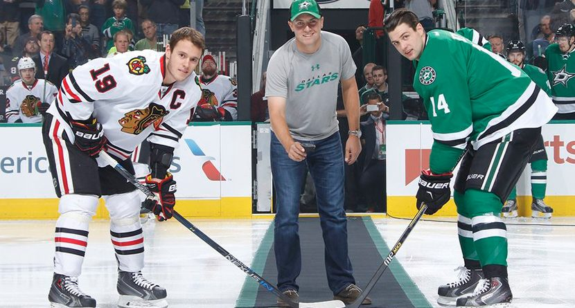 Jordan Spieth Drops The Puck At Dallas Stars Game