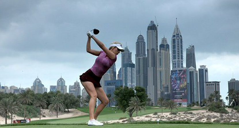 Paige Spiranac Tees It Up In LET's Omega Dubai Ladies Masters