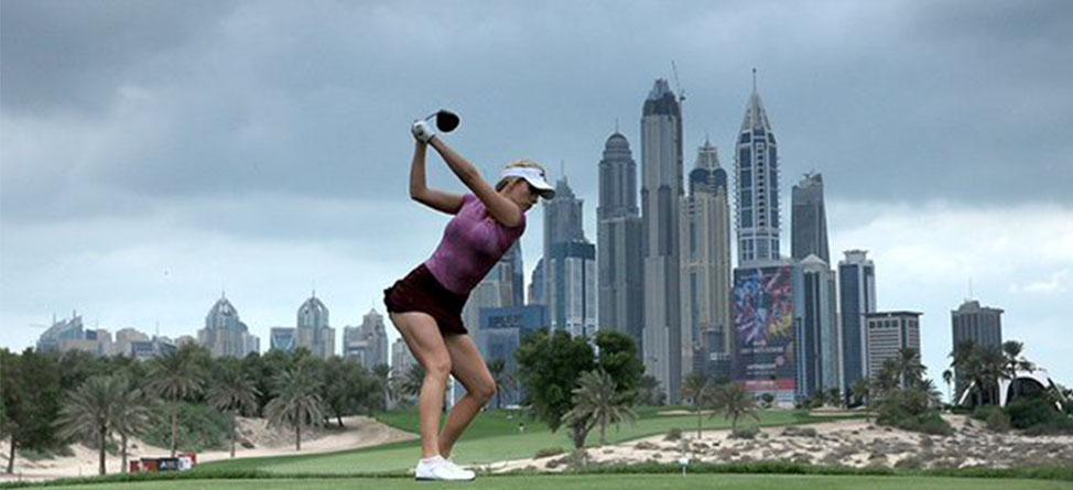 Paige Spiranac Tees It Up In LET's Omega Dubai Ladies Masters