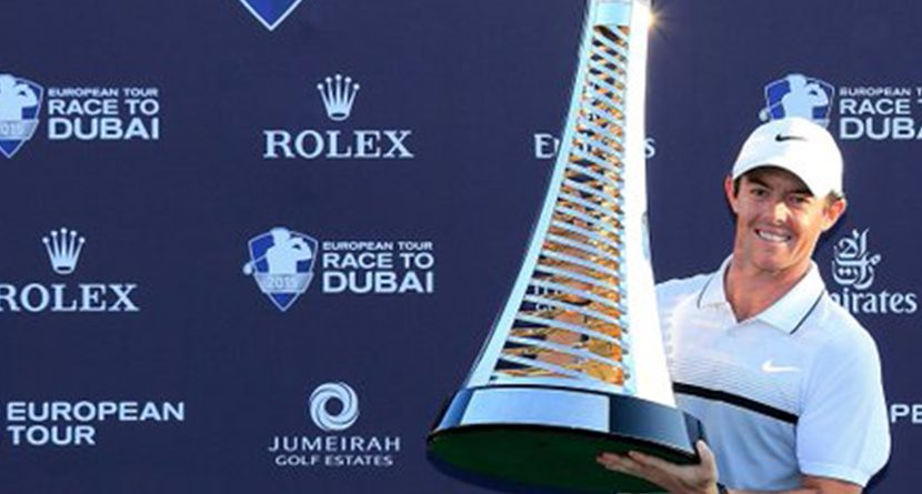 Rory McIlroy Wins The European Tour Golfer Of The Year Award