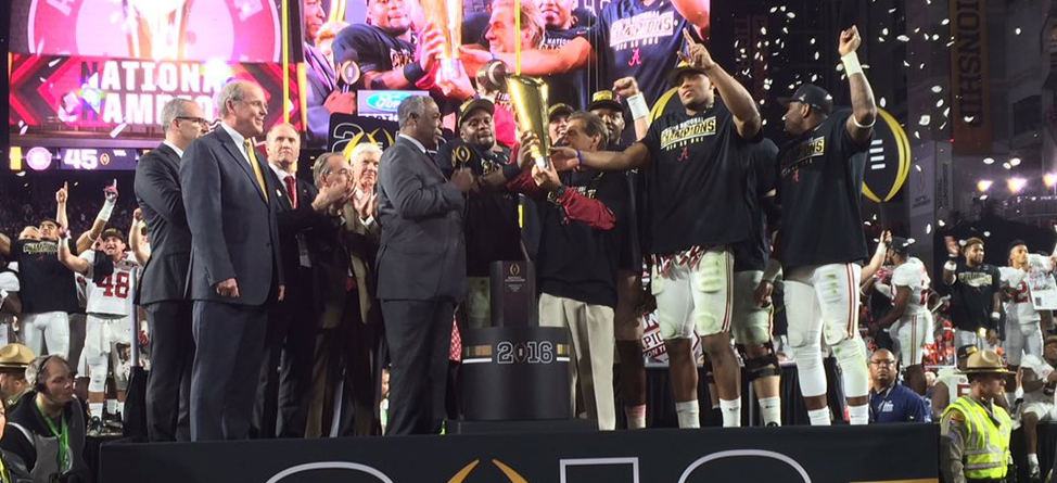 Tour Pros React To The College Football National Title Game On Twitter