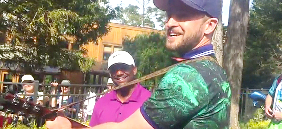 Justin Timberlake Entertained The Crowd During A Pro-Am Back Up
