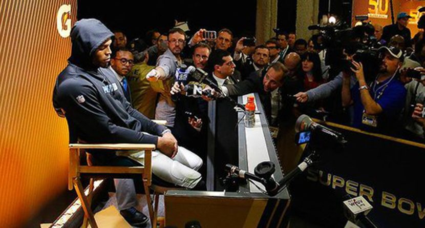 Monday Morning Provisional: Cam Newton's Press Conference Reminds Of Dustin Johnson At Chambers Bay