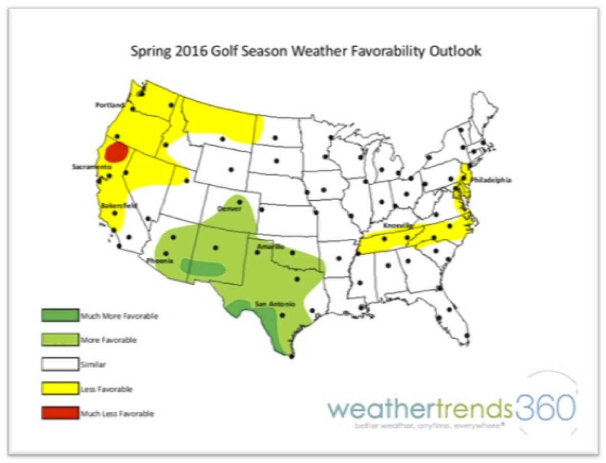 spring 2016 weather forecast