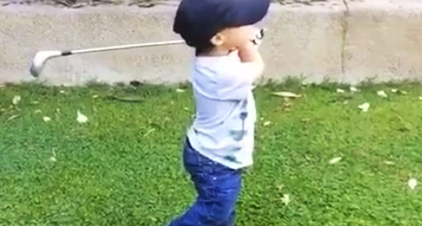 2-Year-Old Has A Better Swing Than Jim Furyk