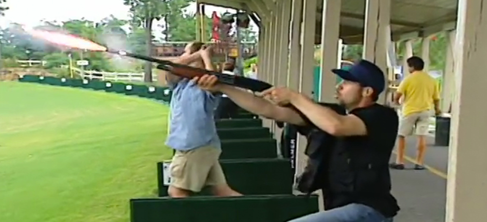 Driving Range Skeet Shooting Prank