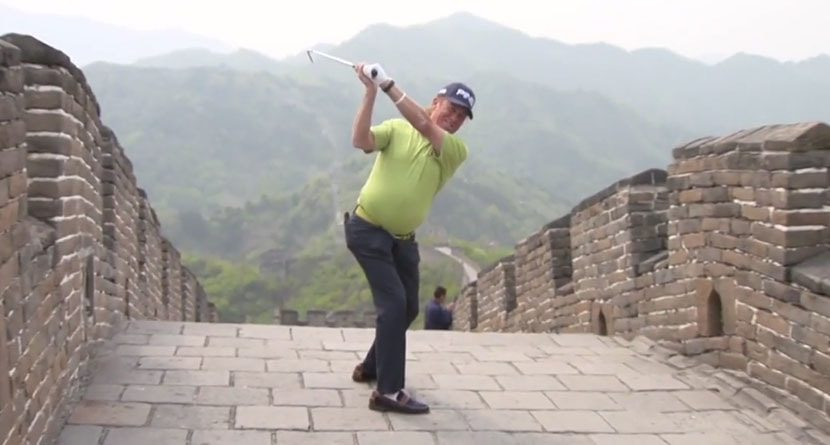 Miguel Angel Jimenez Plays From The Great Wall Of China