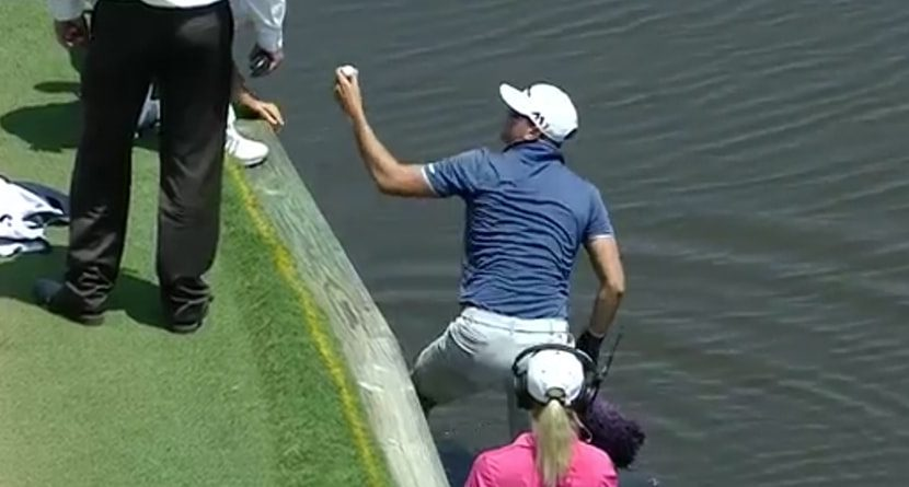 Rules Junkie: Why Dustin Johnson's Caddie Jumped In A Lake