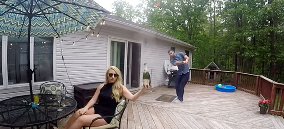 Incredible Trick Shot Pops Open Champagne Bottle Perfectly