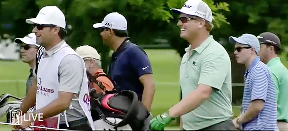 Charley Hoffman Pegs Ernie Els' Caddie At Quicken Loans National