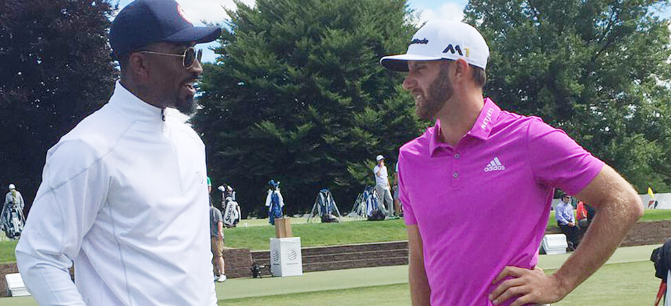 J.R. Smith Visits With Pros At WGC-Bridgestone