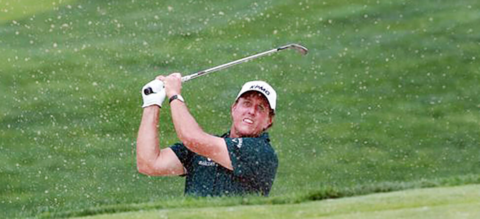 Phil Mickelson Hits Marshal In Head With A Drive