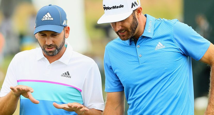 DJ, Sergio In Position To Win First Major At Oakmont