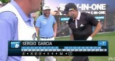 Sergio Garcia Celebrates Ace With An Homage To Miguel Angel Jimenez