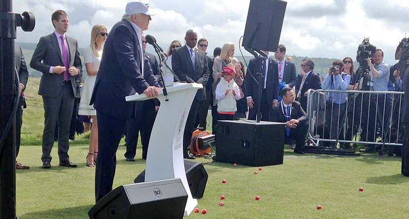 Trump Turnberry Reopening Derailed By Heckler