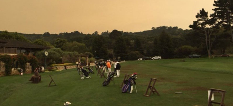 Wildfires Affect Pebble Beach Monterey Golf Courses