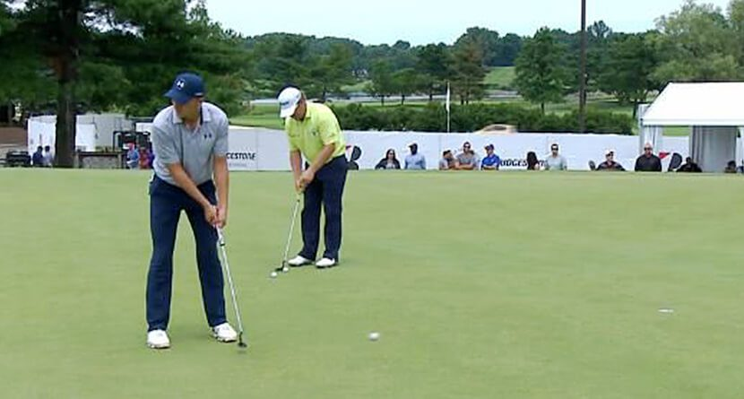Jordan Spieth Makes Awesome Trick Putt