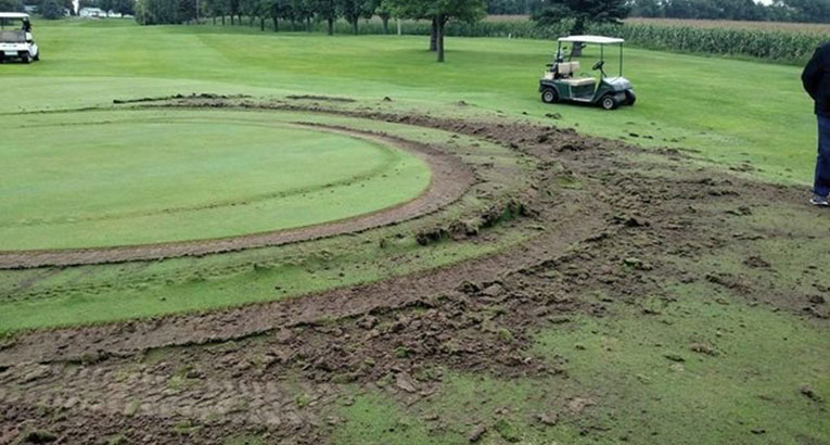 Vandals Do Donuts On Minnesota Golf Course