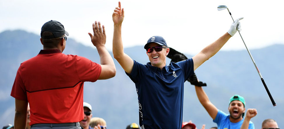 Justin Rose Hits The First Ace In Olympic History