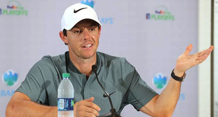 Rory Standing Pat With Nike Equipment