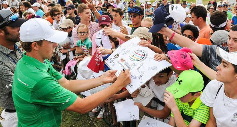 Spieth Signs Frat Boy's Beer Mid-Tournament
