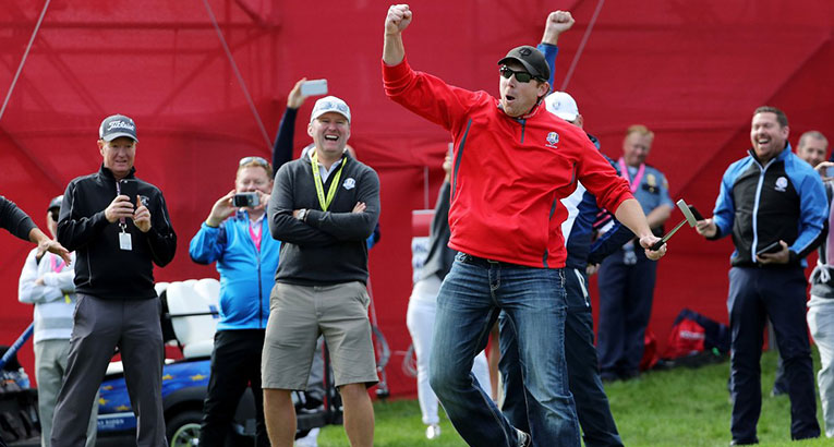 Fan Makes Biggest Putt In Ryder Cup (Practice) History