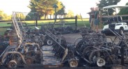 Golf Carts Destroyed In Suspicious Fire